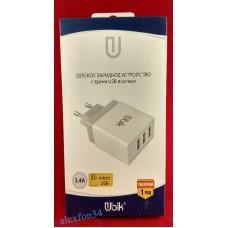 Сетевое зарядное устройство Ubik UHS33