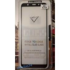 Защитное стекло на Samsung A6 Plus